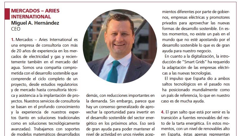 CEO interview to Energetica magazine